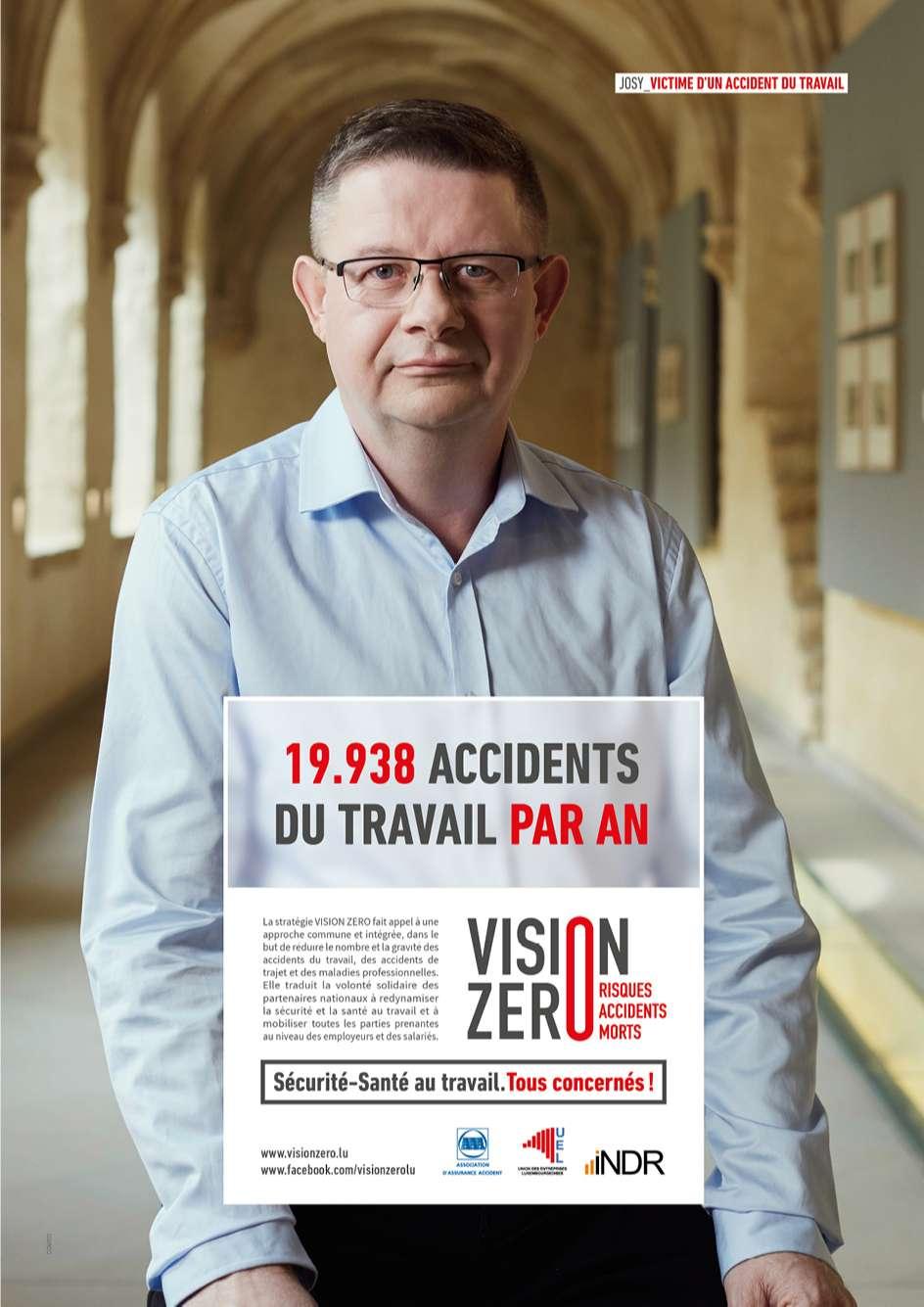 Des chiffres issus des statistiques au Luxembourg interpellent sur les accidents au travail dans cette annonce réalisée par Comed