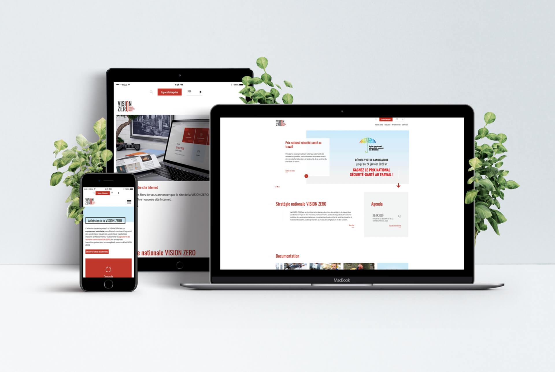 Site web expliquant la stratégie nationale Vision 0 et sa campagne de promotion
