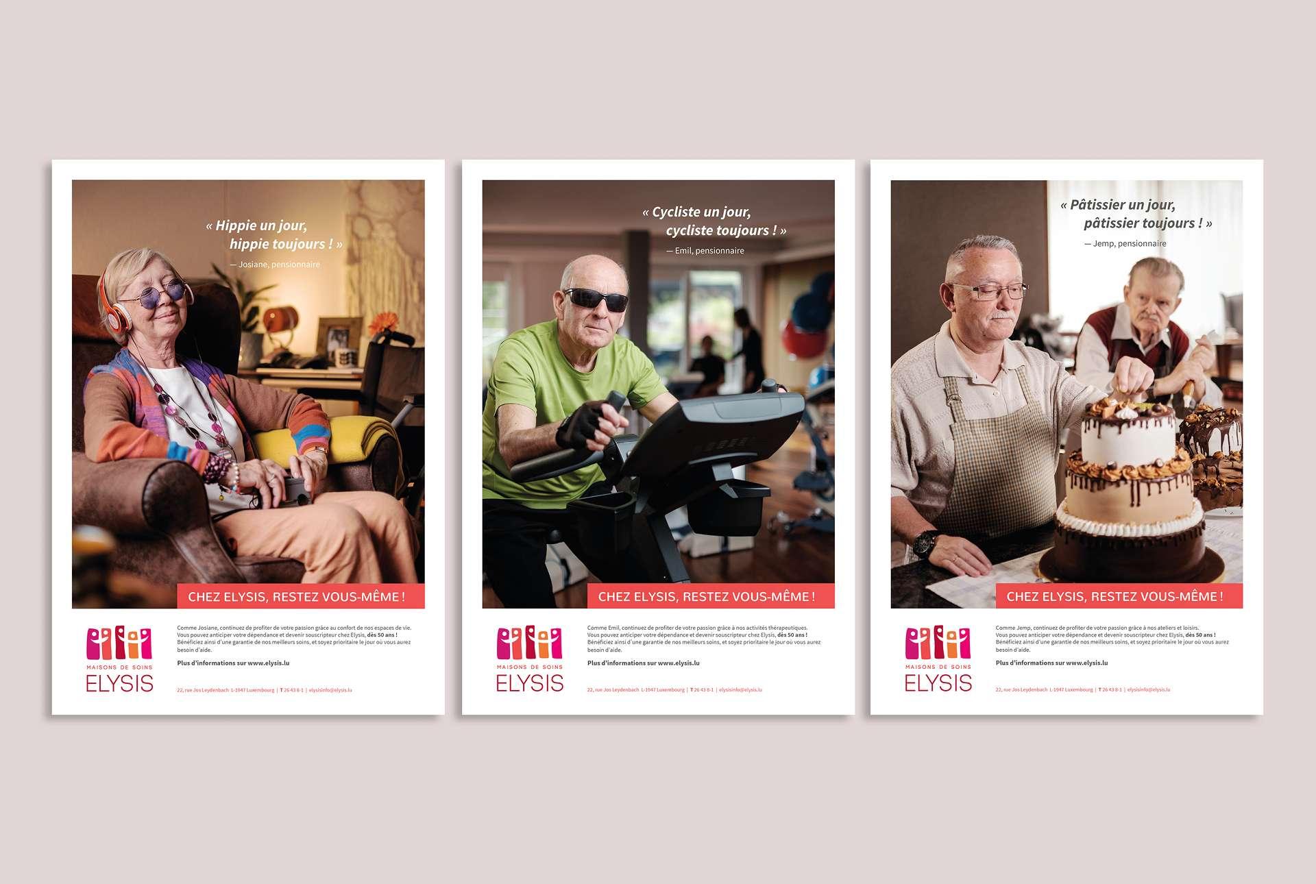 Visuel de la campagne de souscription pour Elysis, maison de soin au Luxembourg