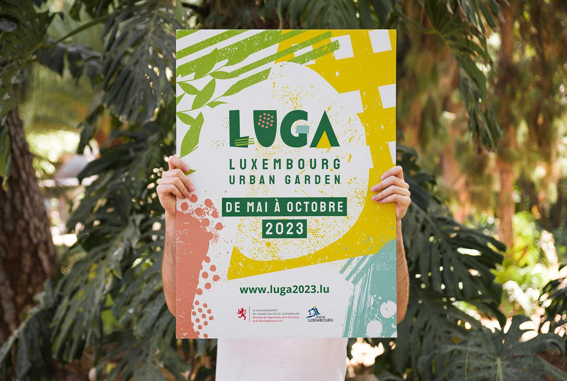 Affiche pour LUGA, première exposition horticole au Luxembourg