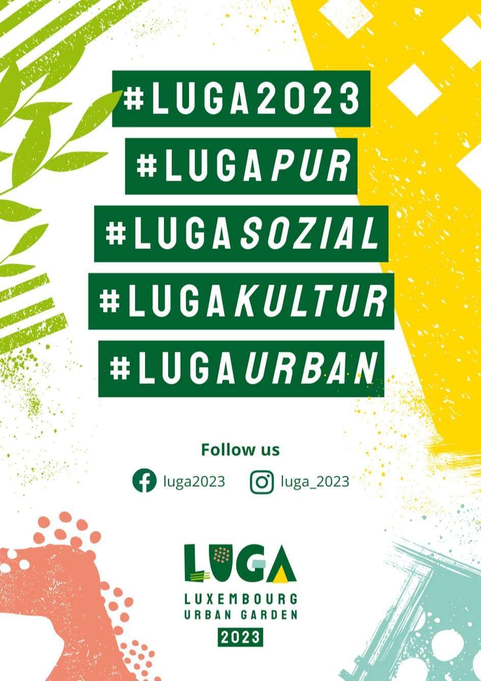 Affiche de teasing pour annoncer l'exposition horticole. L'identité visuelle de la LUGA a été construite sur le concept de la jungle urbaine