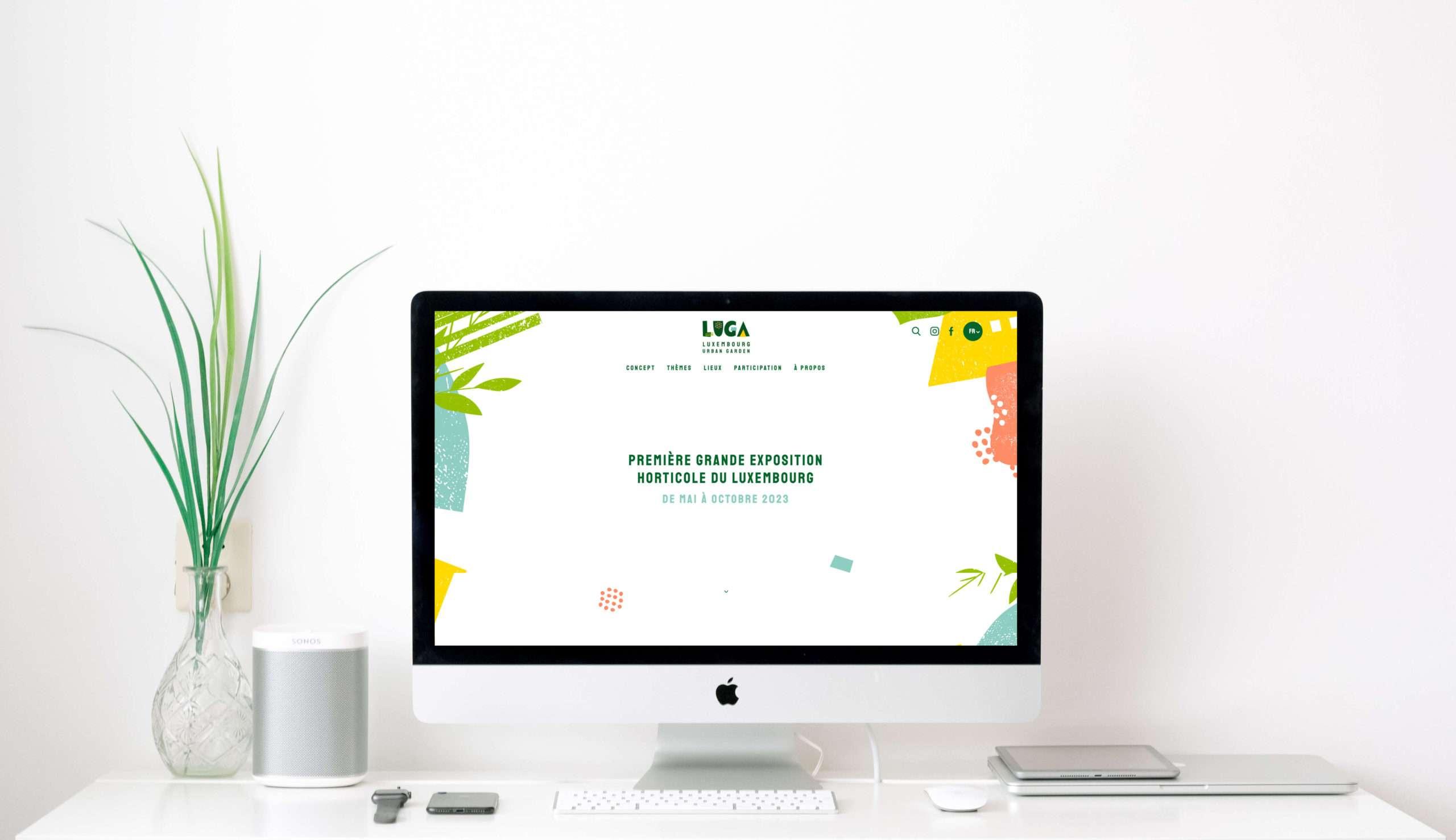 Réalisation du site internet LUGA en responsive design