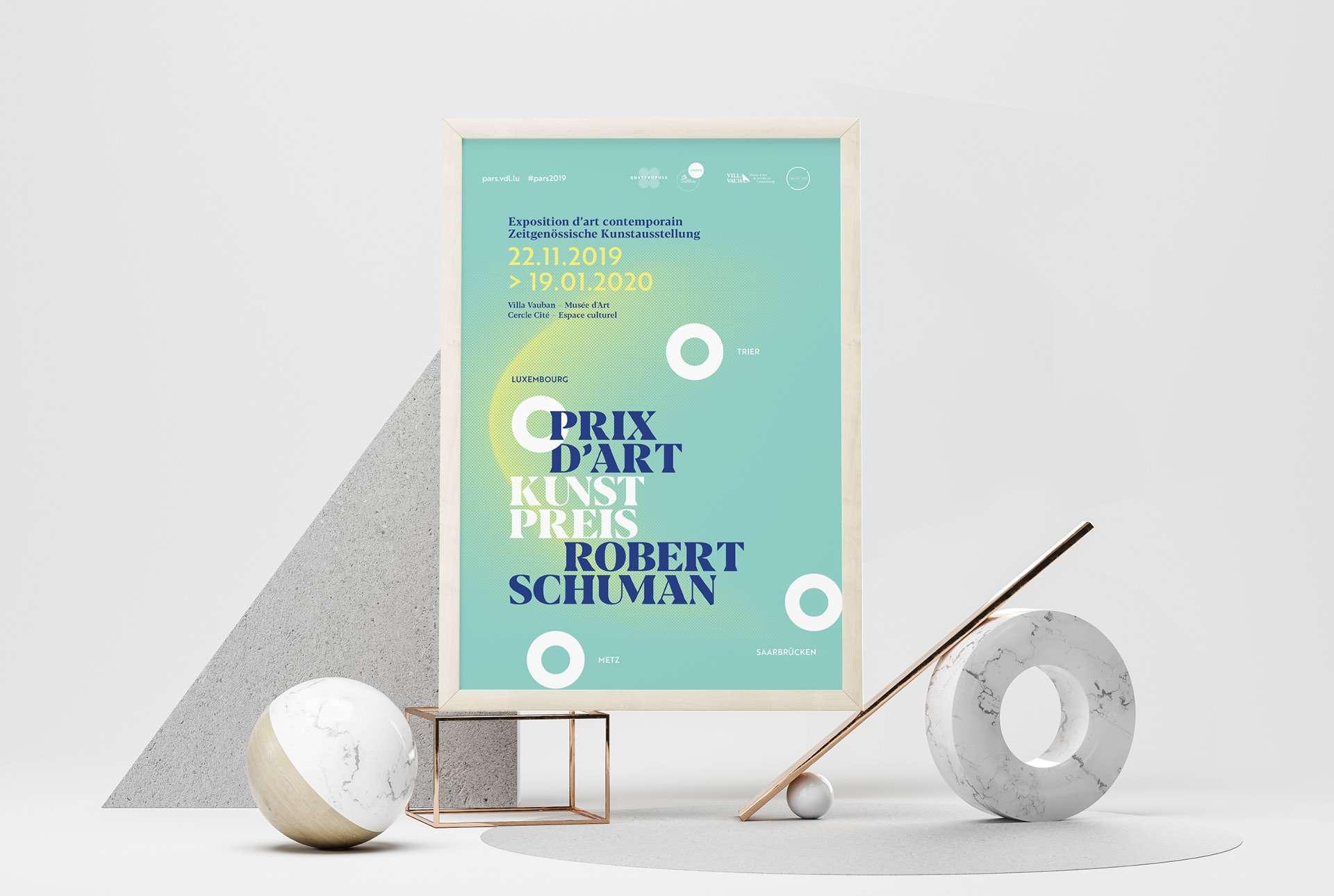 Affiche de l'exposition et du prix. mise en avant du QuattroPole