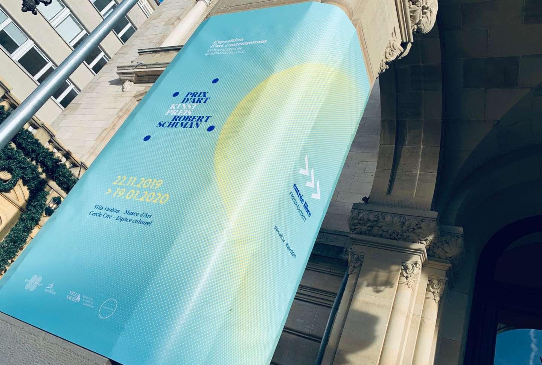 Campagne d'affichage pour le Prix d'Art Robert Schuman 2019 organisé par la Villa Vauban et le Cercle Cité