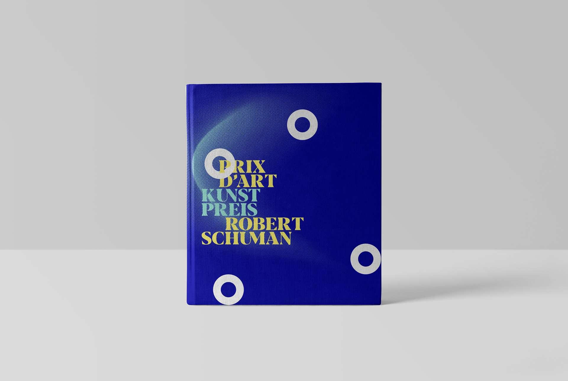 Livre dédié au Prix d'Art Robert Schuman 2019 ; une couverture en accord avec l'identité visuelle réalisée par Comed