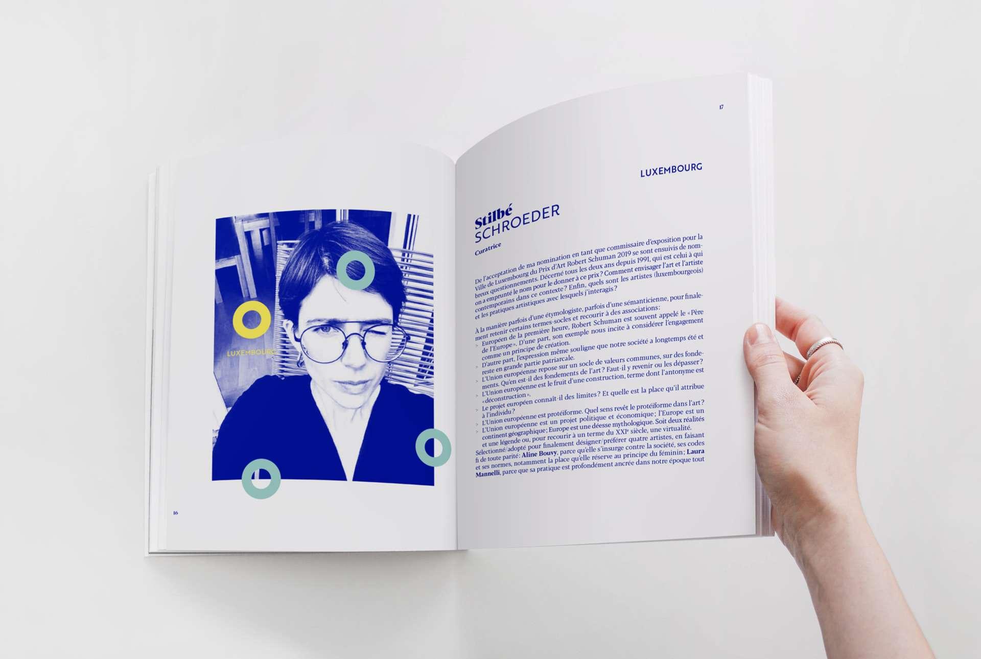 Mise en page dynamique du livre dédié au Prix d'Art Robert Schuman 2019
