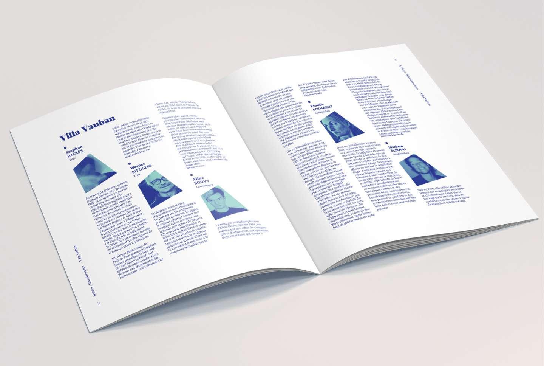 Pages internes de la brochure réalisée par l'agence de communication Comed