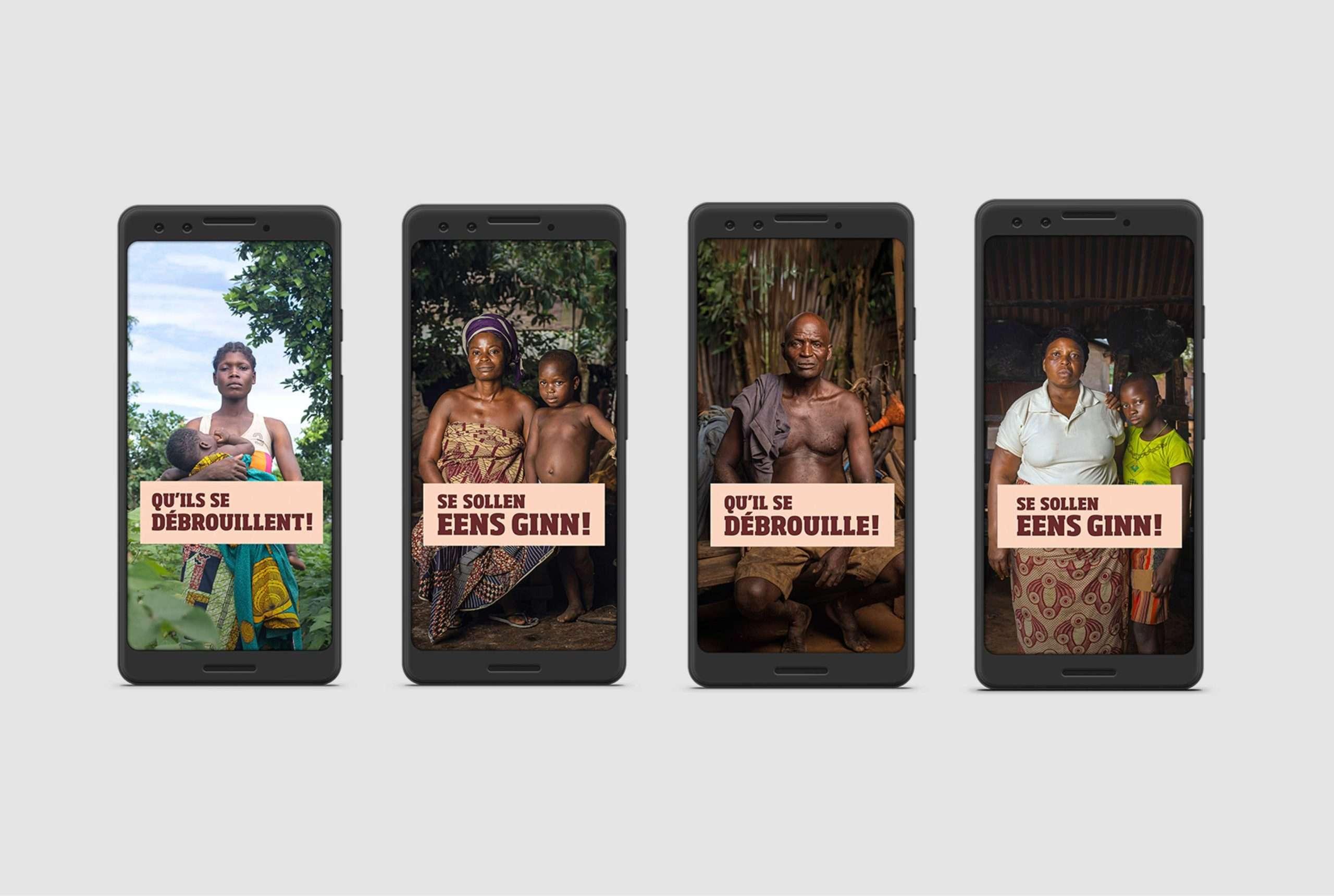 Campagne multicanale de Comed pour SOS Faim, affichage sur smartphone