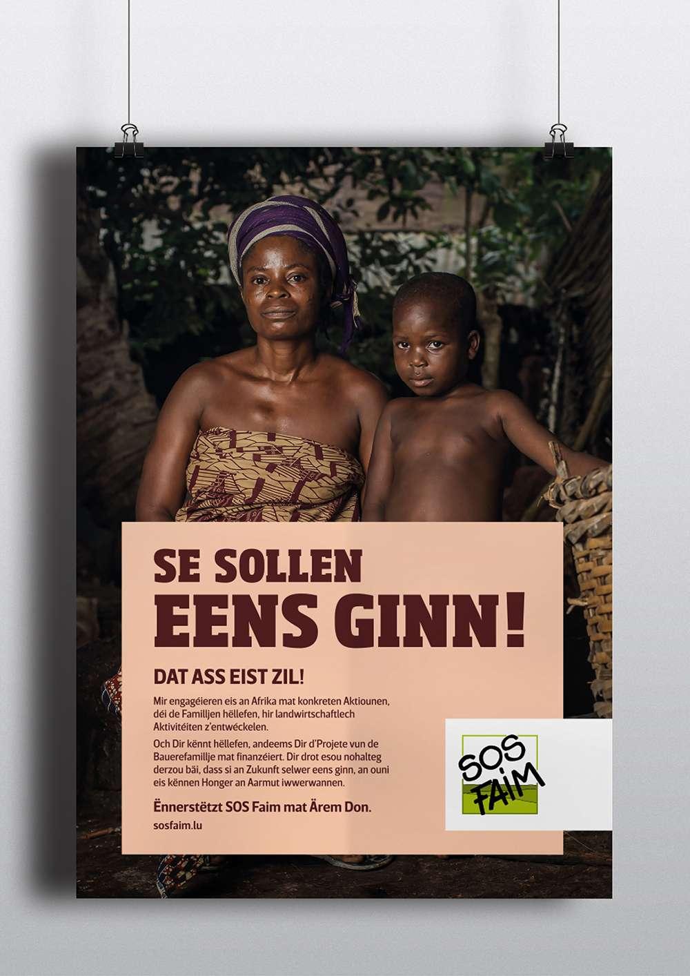 Explication de la publicité SOS Faim Luxembourg