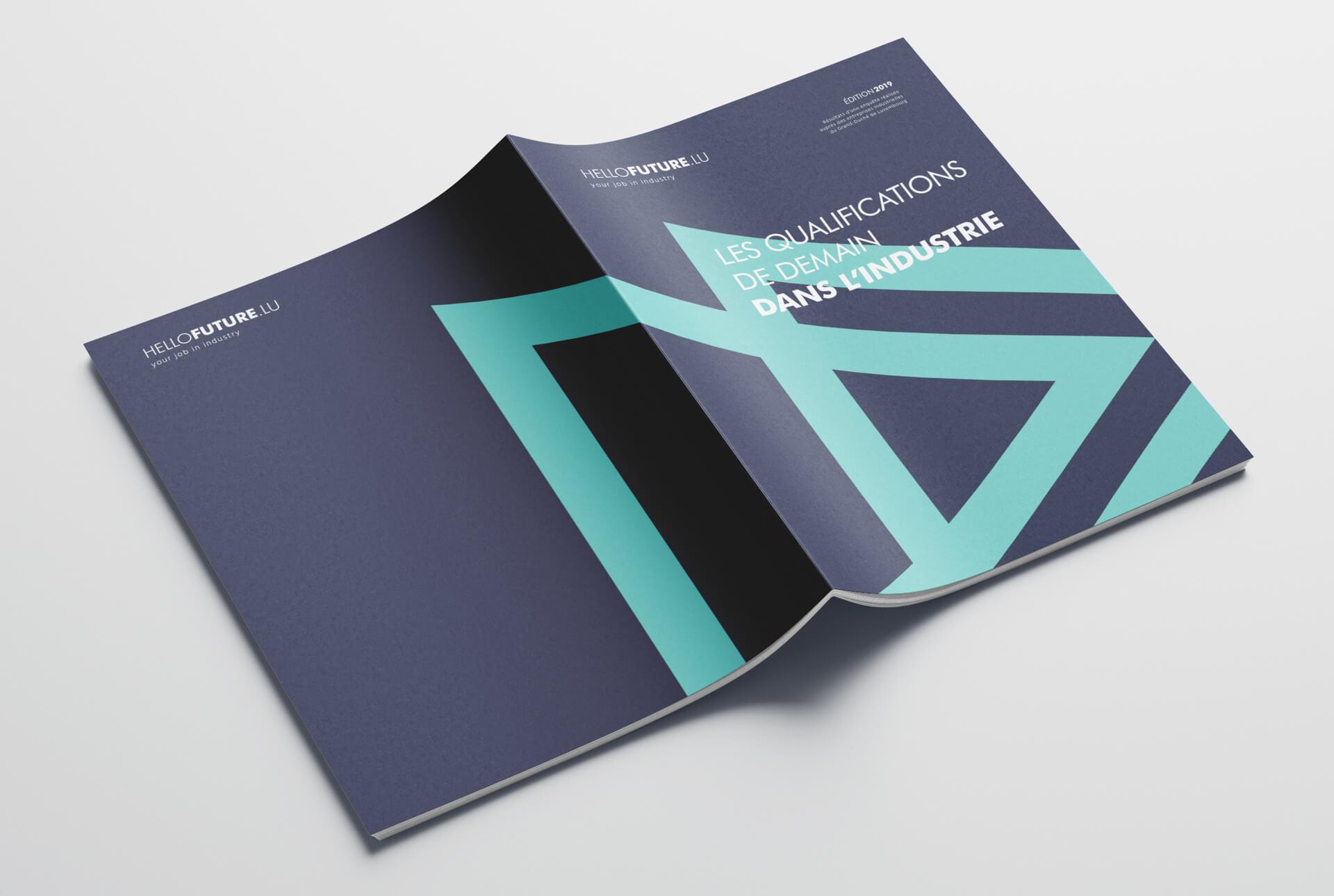 Brochure informative Hellofuture expliquant les qualifications de demain dans l'industrie
