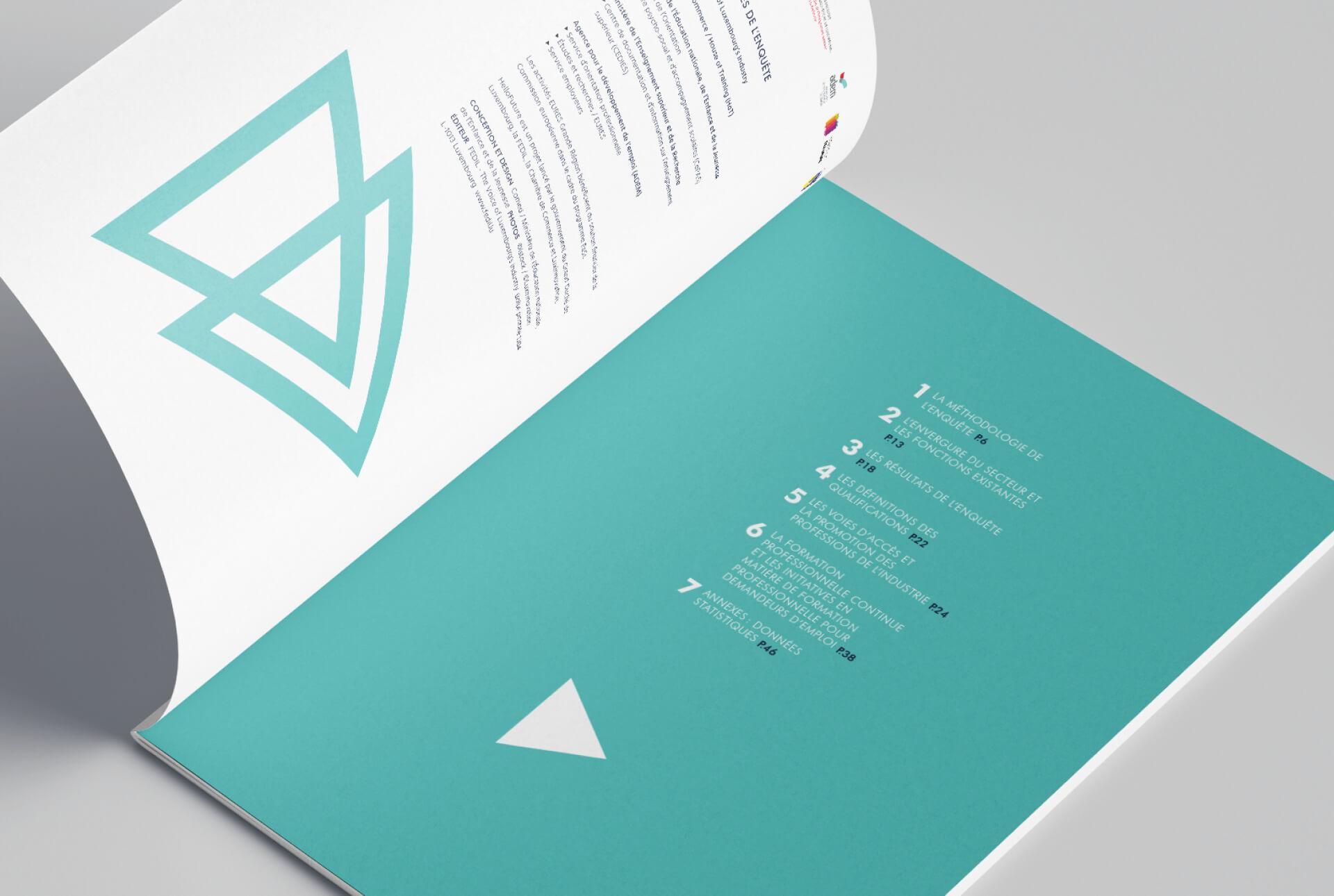 Brochure réalisée dans le cadre de la campagne de promotion de l'industrie à destination des jeunes