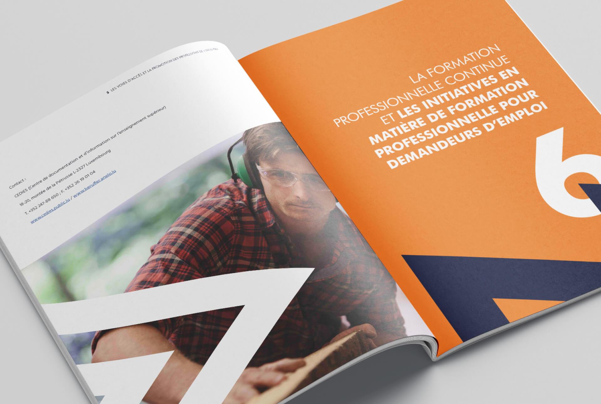 Brochure Fedil concernant les méties de l'industrie et la formation continue
