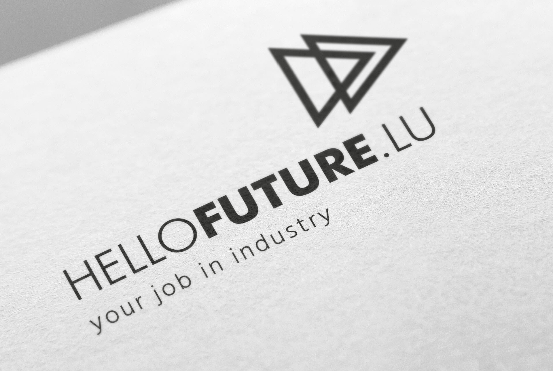 Logotype et slogan de la campagne Hellofuture, réalisée par l'agence Comed