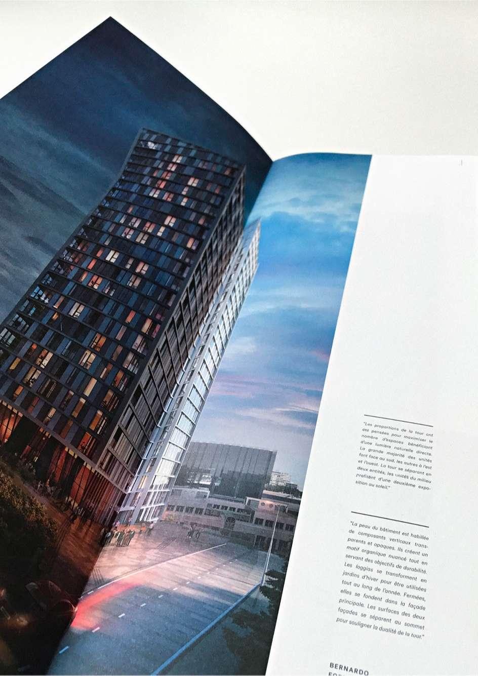 Vue ouverte de la brochure du projet résidentiel Infinity par Immobel