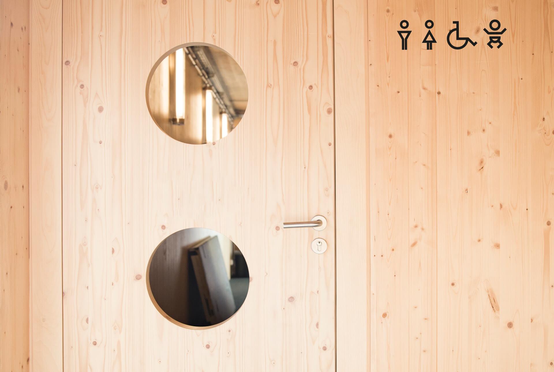 Signalétique des Rotondes - toilettes