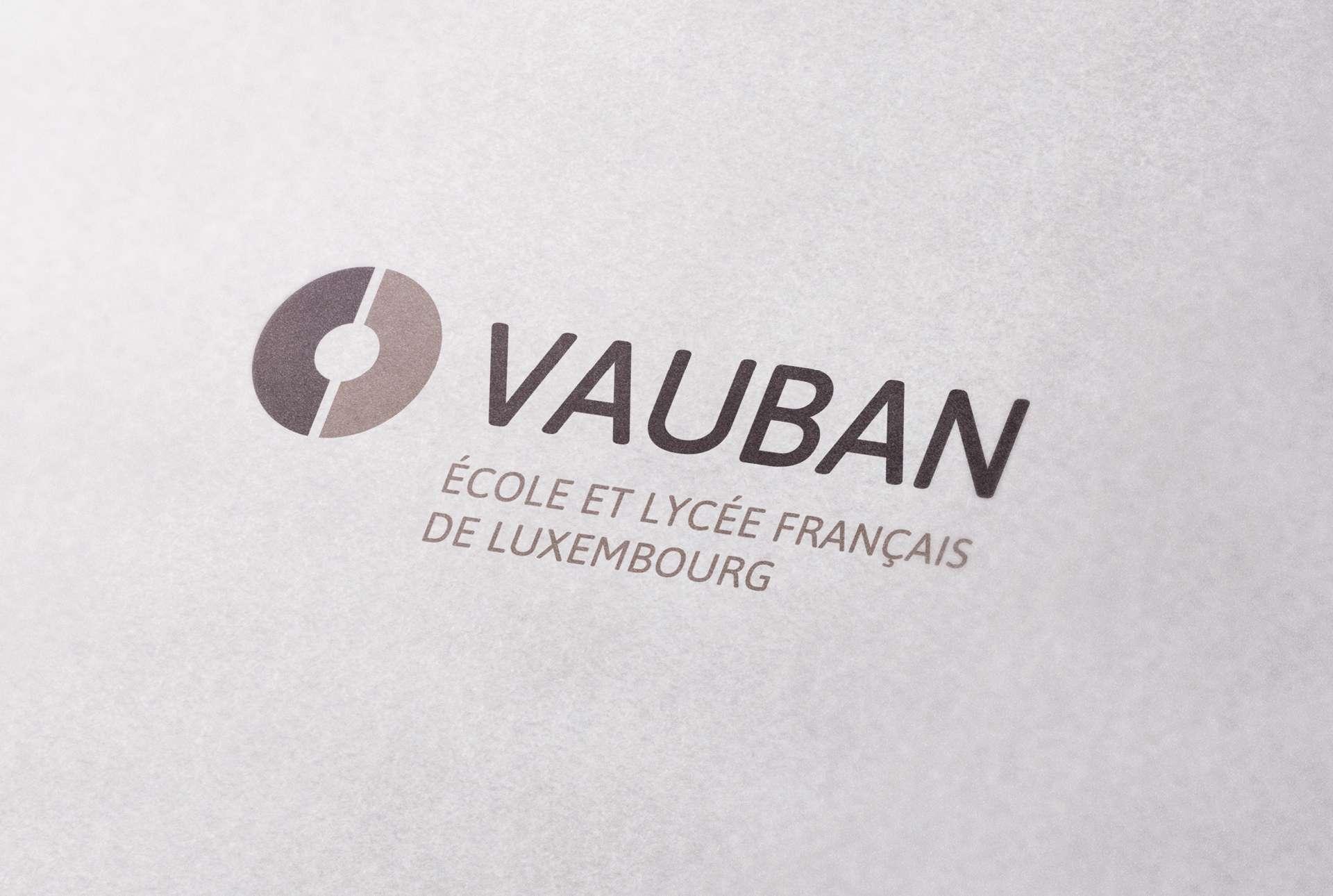 Identité visuelle de Vauban, école et lycée français de Luxembourg