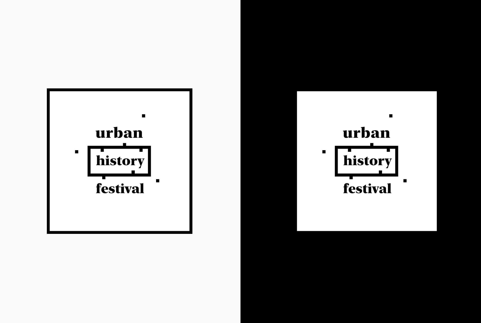 Développement du logo de l'Urban History Festival à partir d'une carte vue d'en haut