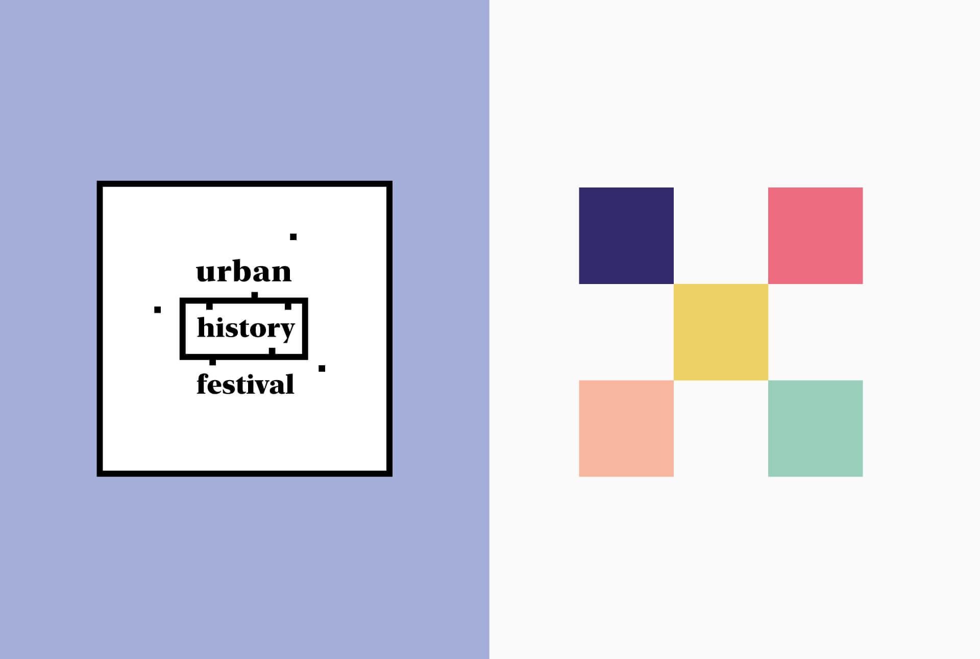 Couleurs choisies pour le corporate de l'Urban History Festival au Luxembourg
