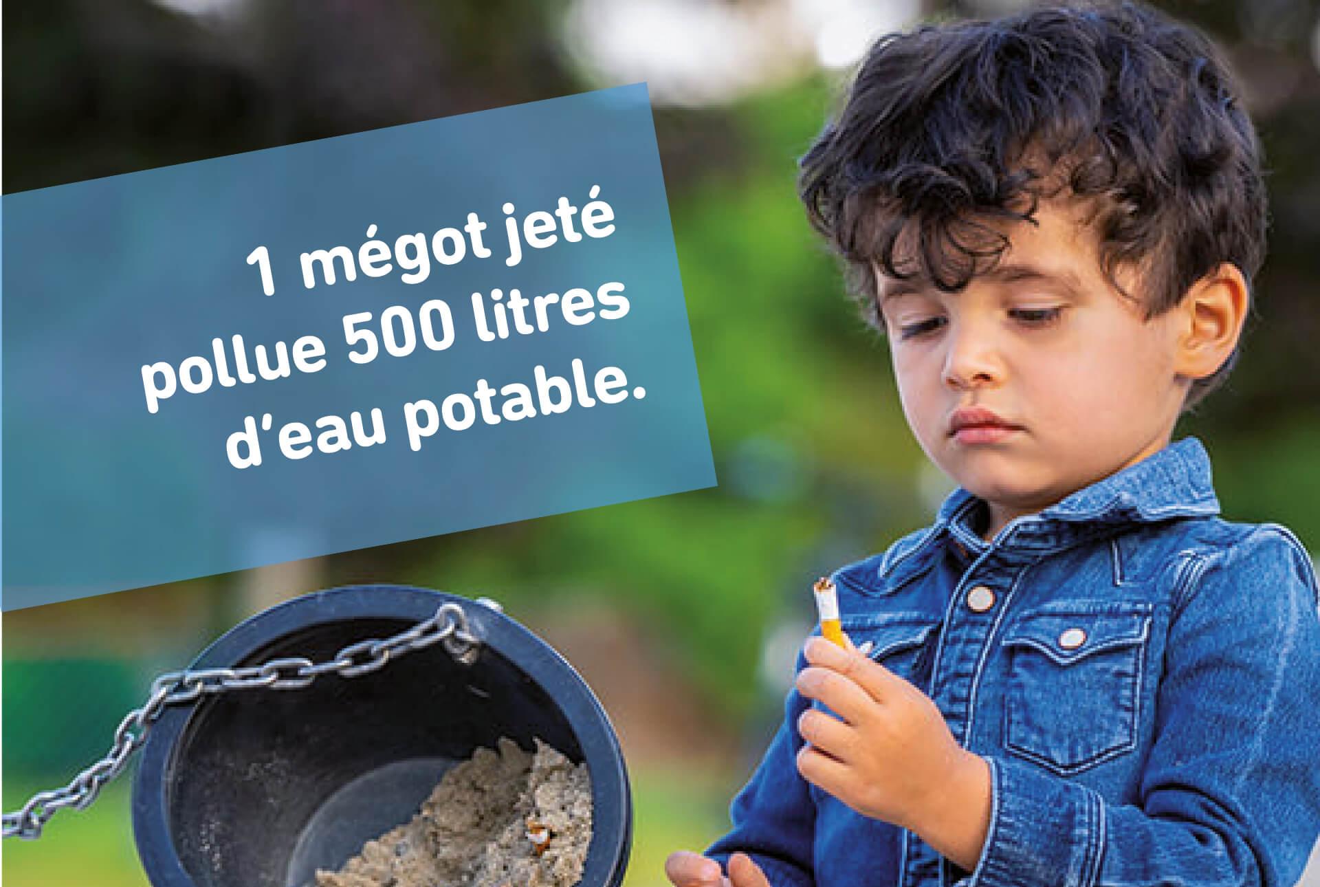 Campagne anti-littering de la ville de Luxeembourg : impact écologique d'un mégot jeté au sol