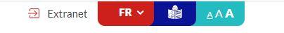 pictogramme langage facile disponible en haut du site entre la langue et le changement de taille de police
